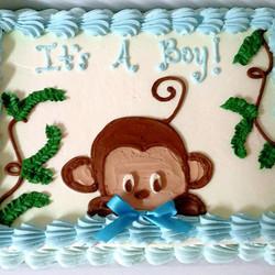 #sweetchefpastry #yellowcake #vanillabuttercream #babyshower  #itsaboy #monkey #baby #boy