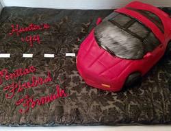 #sweetchef #sweetchefpastry #groomscake #vanillacake #chocolatebuttercream #pontiac #firebird #94pon