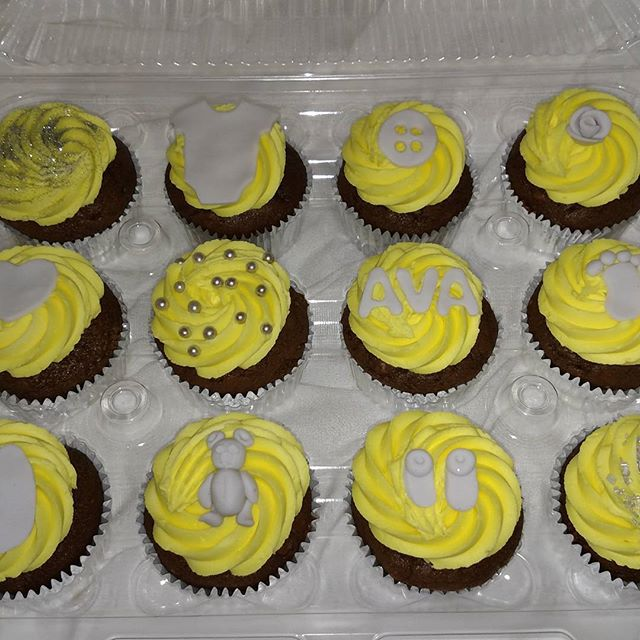 #sweetchef #sweetchefpastry #babyshower #cupcakes #chocolatecupcakes #vanillabuttercream #fondant #s