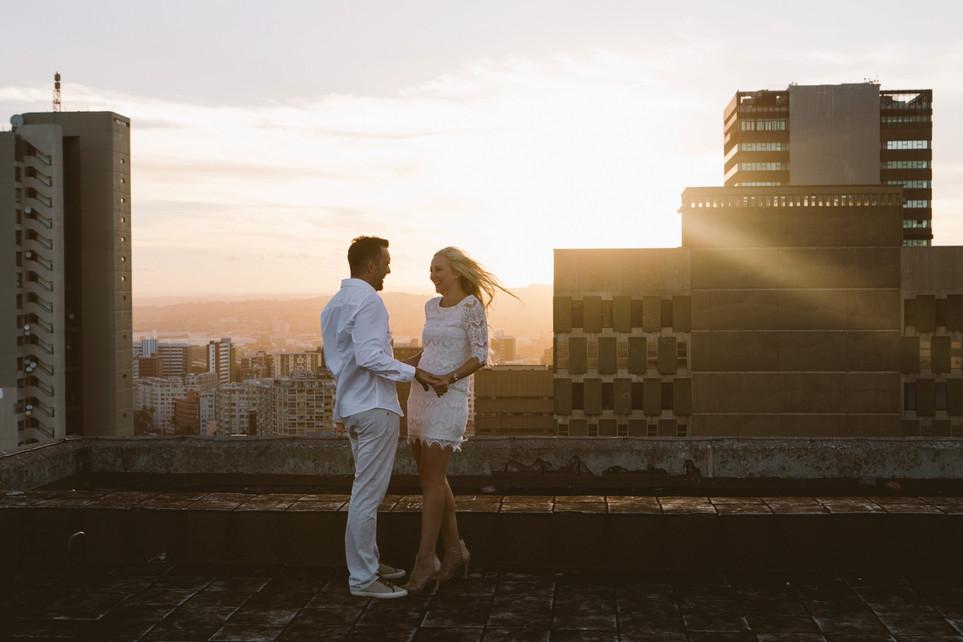 Bryce + Loren | Durban Rooftop Engagement