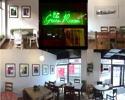 Work on display at the Green Room Cafe Bar