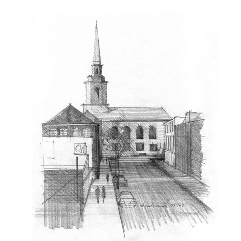 View of St. Paul's Church from Ludgate Hill.