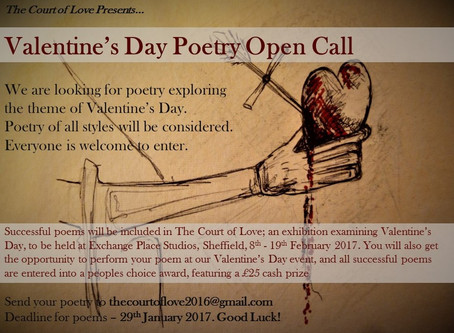 Poetry Open Call – The Court Of Love – Responses to Valentine's Day