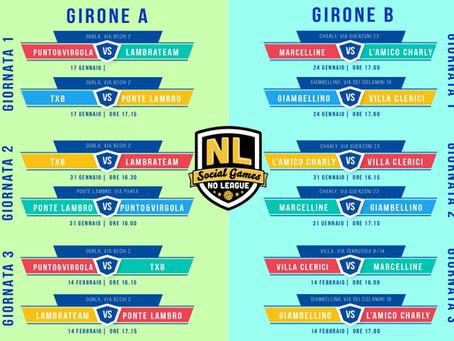 Ecco il calendario della No League 2020!