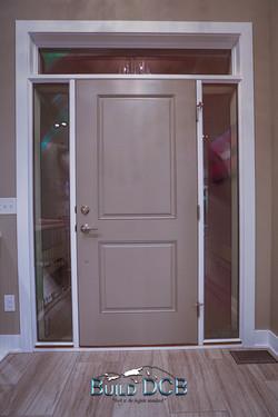 front door entry brass handles