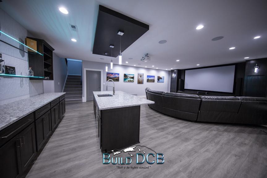 entertainment room kitchen island