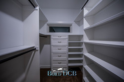 master bedroom closets and shelving