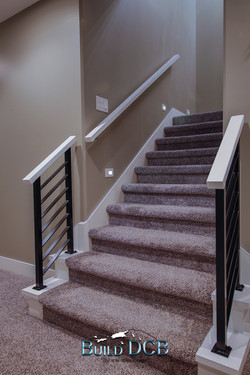 carpeted stairwell