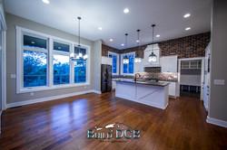 large open custom kitchen