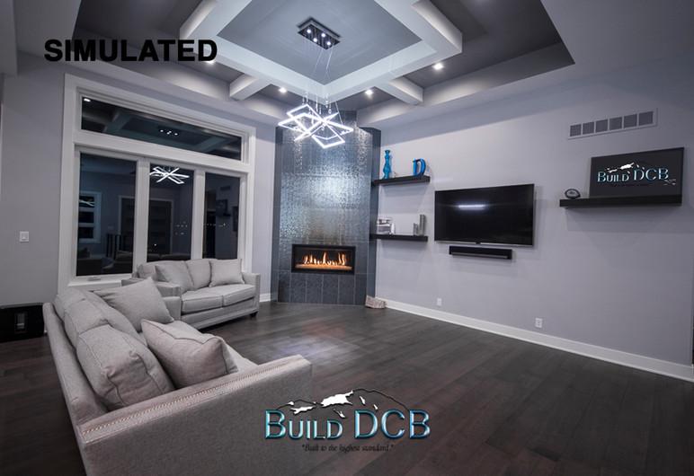 modern living room custom home design