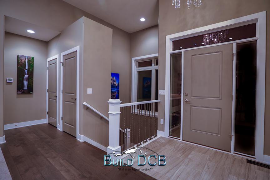 wood flooring guest bathroom