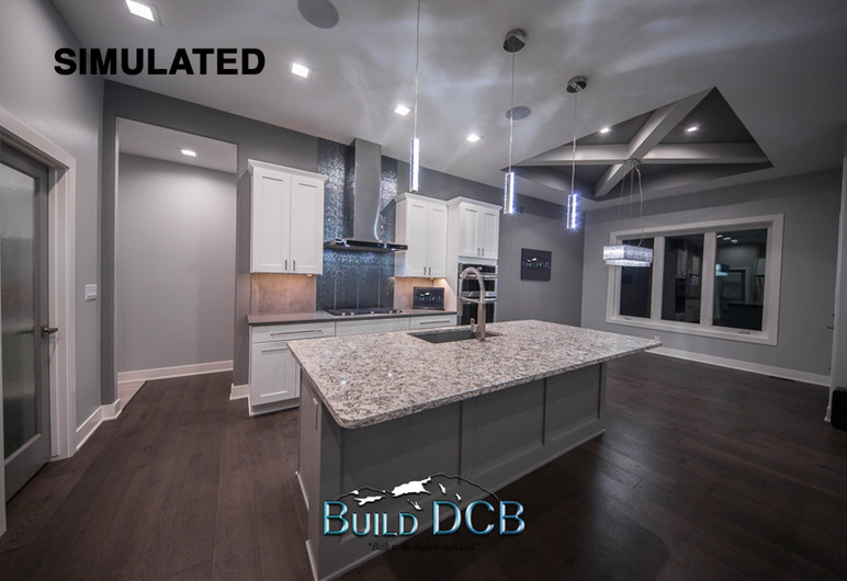 open kitchen layout and custom design