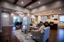 open kitchen to living room