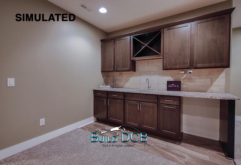 custom basement bar area