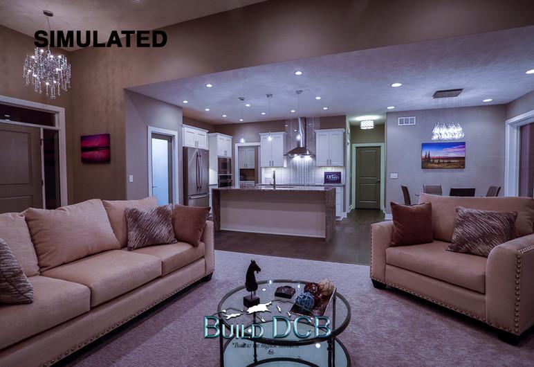 contemporary living room custom design