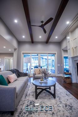 contemporary custom designed living