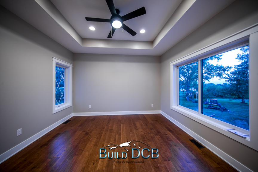 wood flooring large open view bed