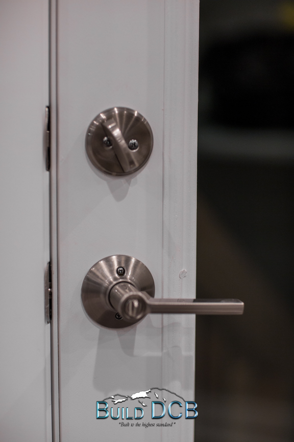 stainless modern door knobs