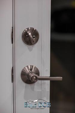 stainless modern door knobs