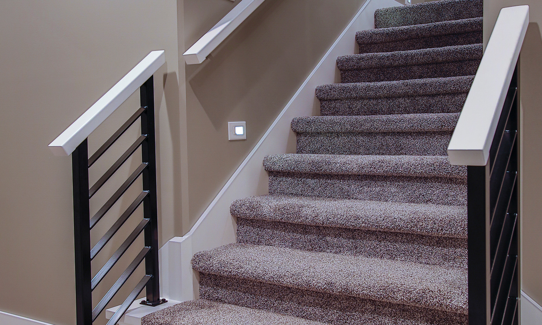 custom railing stairwell