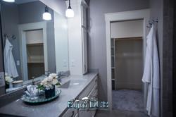 bathroom light fixture and sink