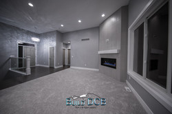 entryway open to fireplace