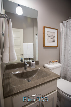guest bathroom and storage