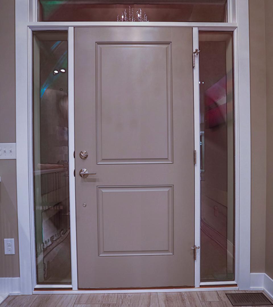 large glass front door