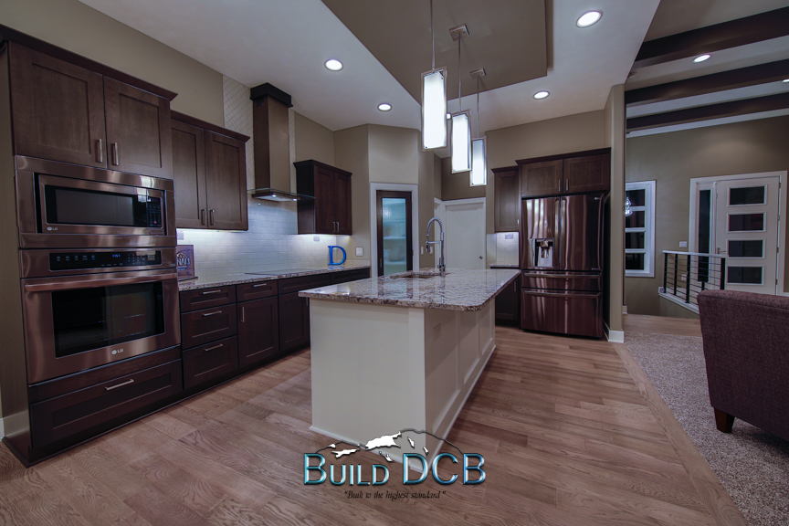 dark wood home kitchen