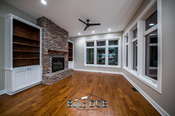 wood floors white moulding