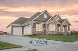 Custom built home large driveway