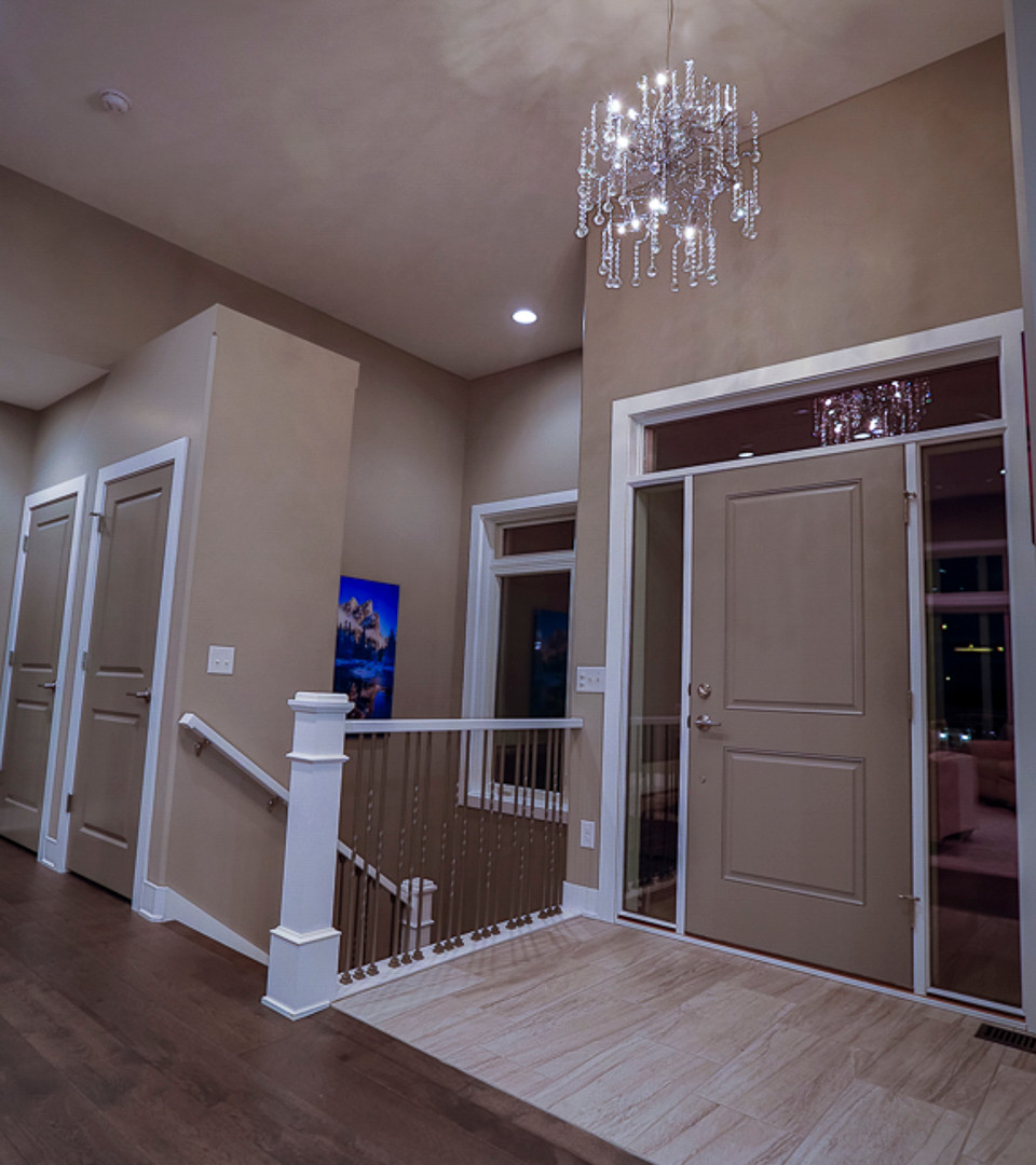 high ceiling custom lighting fixture
