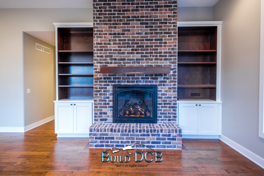 large brick electric fireplace