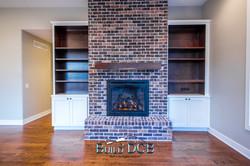 large brick electric fireplace