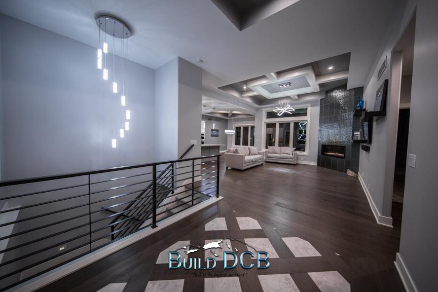 custom designed home entry