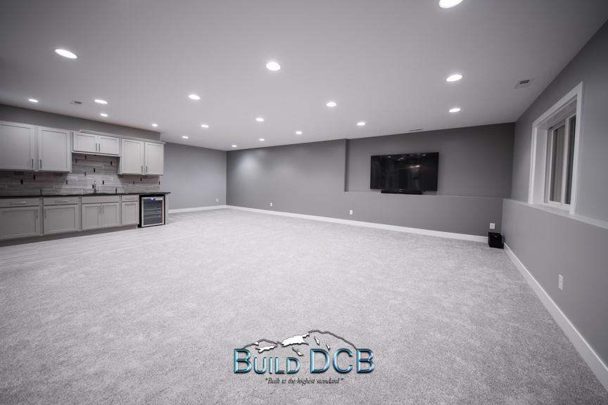 large open basement layout