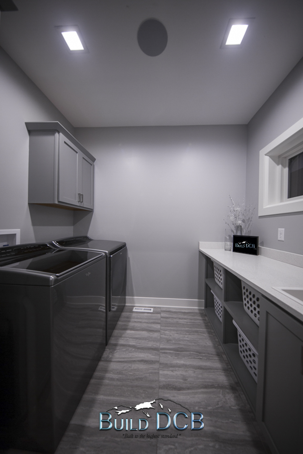 Large Laundry Room with storage