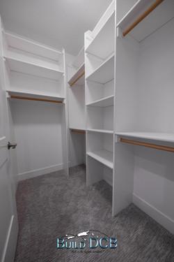 upstairs bedroom closet shelves
