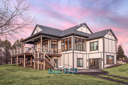 Custom home with large walk out deck