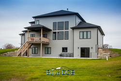 large walk out yard custom home