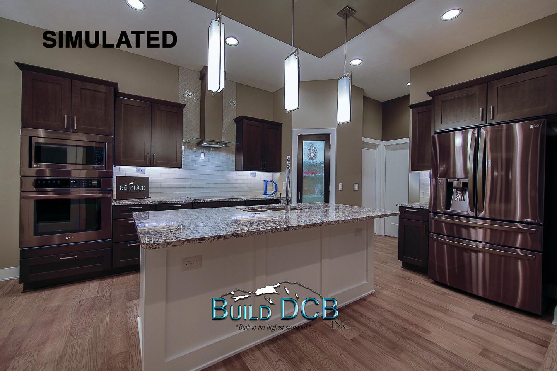 open custom designed kitchen layout