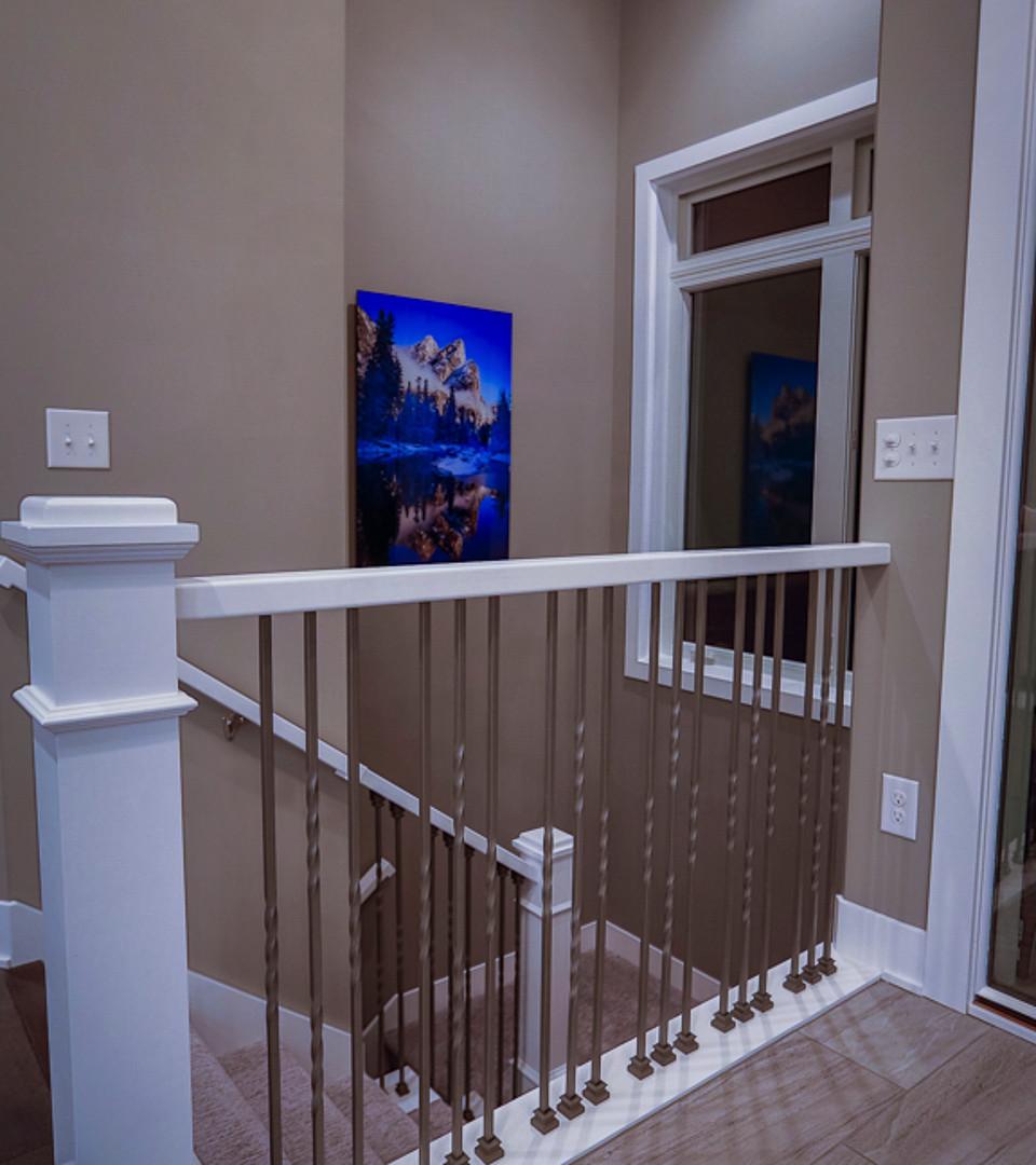 custom stairwell railings