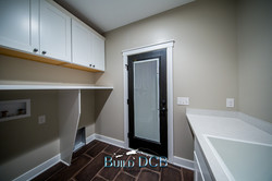 large spacious laundry room