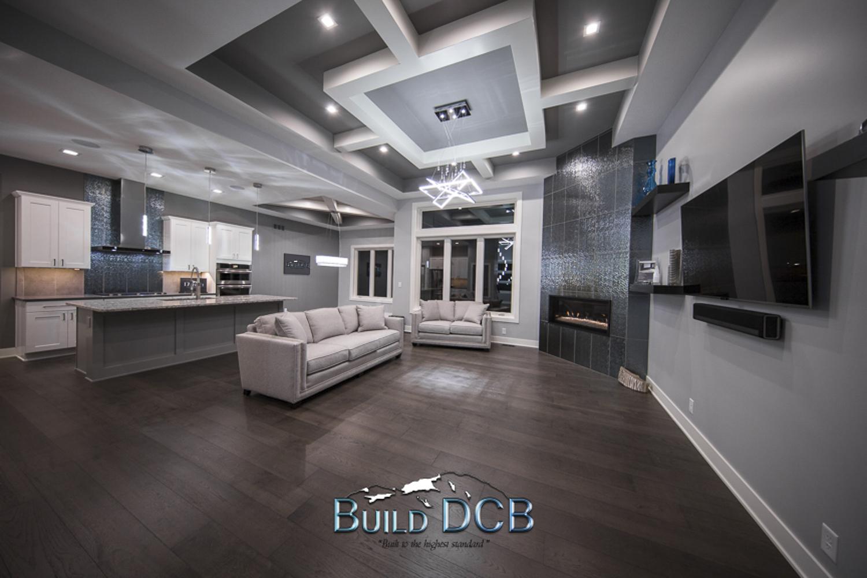 Custom home living rooms