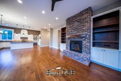 fireplace custom wood cabinets