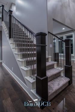 wood railings stairs