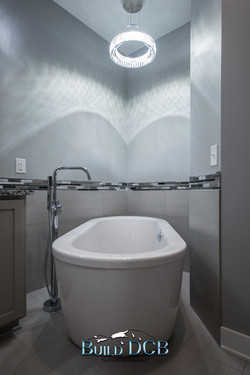 stand out tub and shower