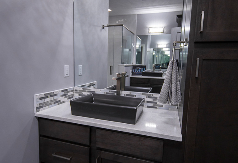 tall bathroom ceilings modern sink