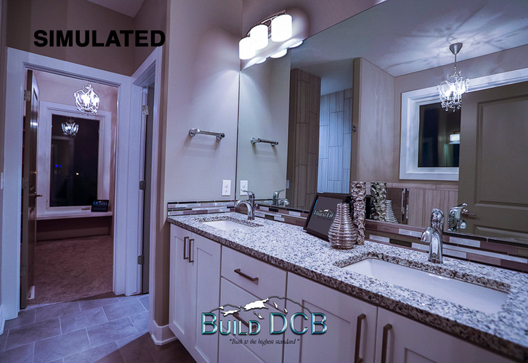dual master bathroom granite counter top