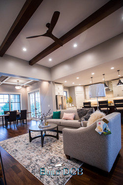 large open living room custom light